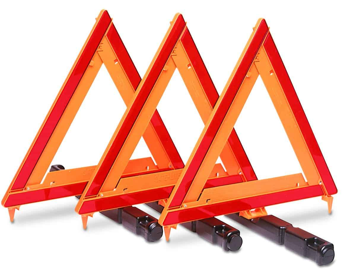 Emergency Warning Triangle Kit 3 Triangles Custer Products